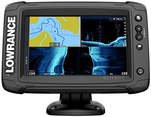 Elite-7 Ti2-7-inch Fish Finder no Transducer Model Wireless Networking, Real-Time Map Creation Preloaded C-MAP US Inland Mapping ...