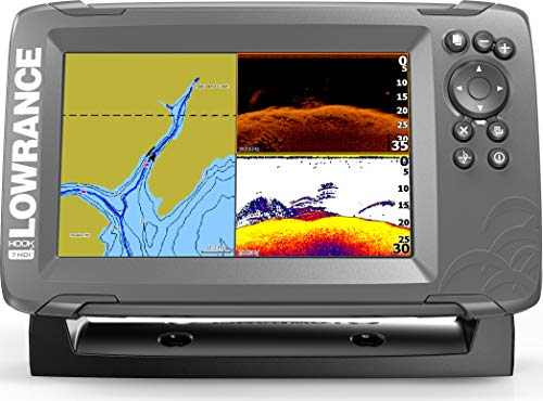 Lowrance HOOK2 7 - 7-inch Fish Finder with SplitShot Transducer and US Inland Lake Maps Installed ...