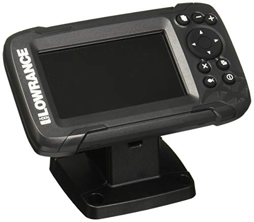 Lowrance HOOK2 4X - 4-inch Fish Finder with Bullet Skimmer Transducer, Gray, One Size