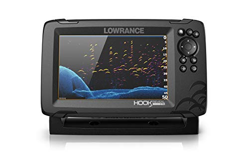 Lowrance HOOK Reveal 7x TripleShot - 7-inch Fish Finder with TripleShot Transducer, GPS Plotter