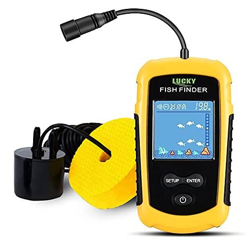 LUCKY Kayak Portable Fish Depth Finder Water Handheld...