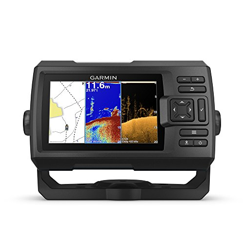Garmin Striker Plus 5cv with Transducer, 5' GPS Fishfinder with CHIRP Traditional and ClearVu Scanning Sonar Transducer and Built In Quickdraw Contours Mapping Software