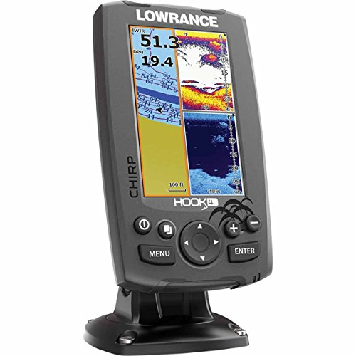 Lowrance 000-12647-001 Hook-4 Sonar/GPS Mid/High/Downscan Fishfinder