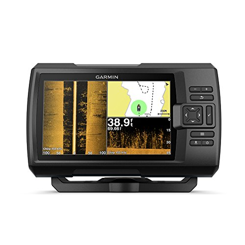 Garmin Striker 7SV with Transducer, 7' GPS Fishfinder with Chirp Traditional, ClearVu and SideVu Scanning Sonar Transducer and Built in Quickdraw Contours Mapping Software, 7 inches (010-01874-00)